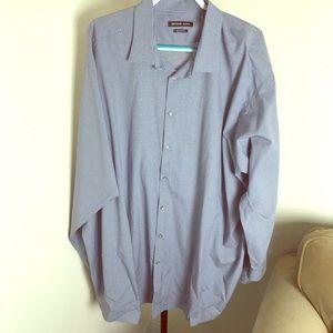 Michael Coors 4X tall navy & polkadot dress shirt
